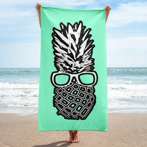 The Pineapple Life Just Cool Folks Beach Towel 9 Shop Today