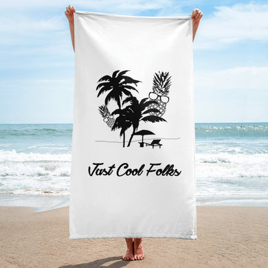 The Pineapple Life Just Cool Folks Beach Towel Shop Today Just Cool Folks.com