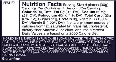 Gu Strawberry Chews Nutritional Facts