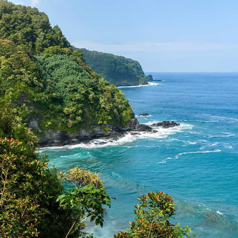 Hana Highway Cliff Maui Hawaii