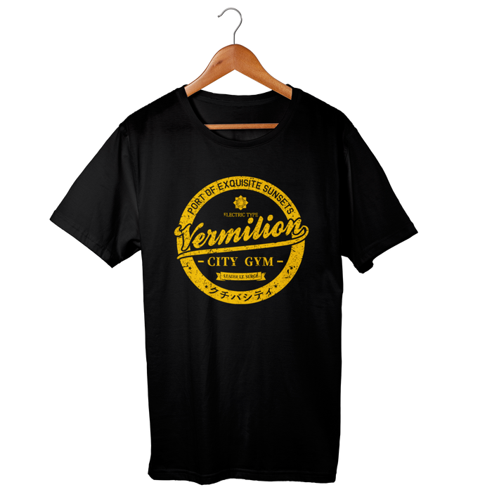 Vermilion City Gym Black Shirt