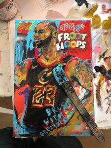 Lebron Cereal Box