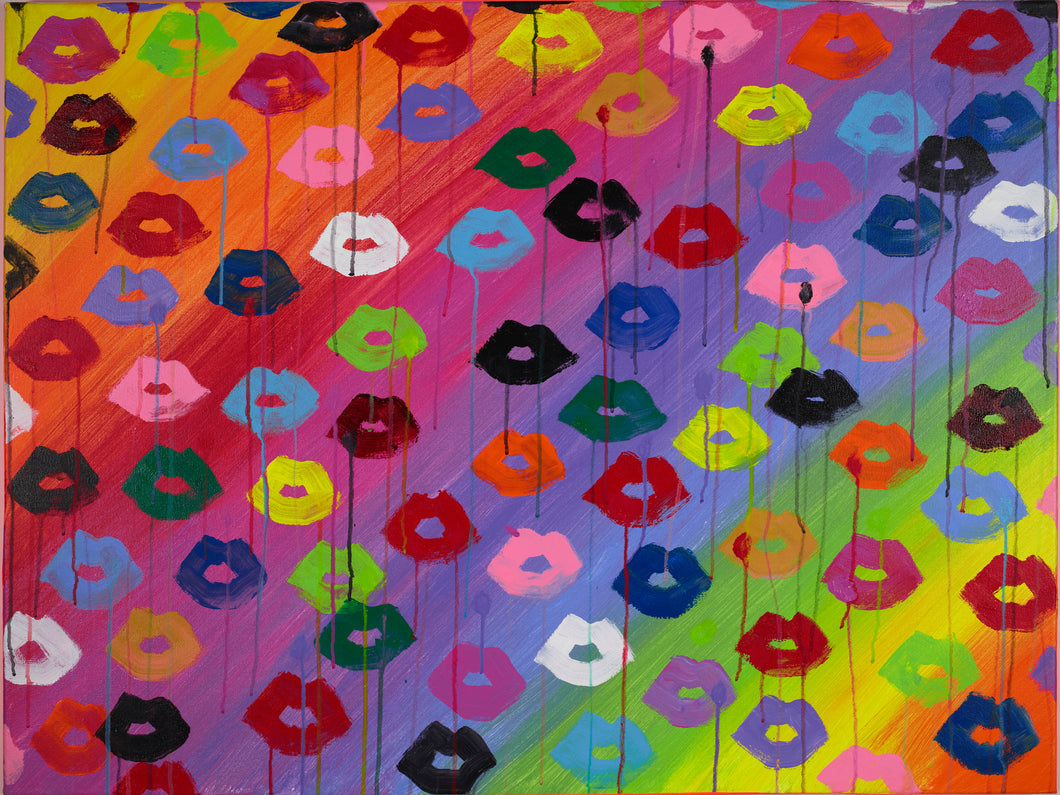 Rainbowed Lips Print
