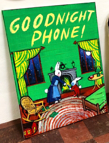 Good Night Phone (large painting)