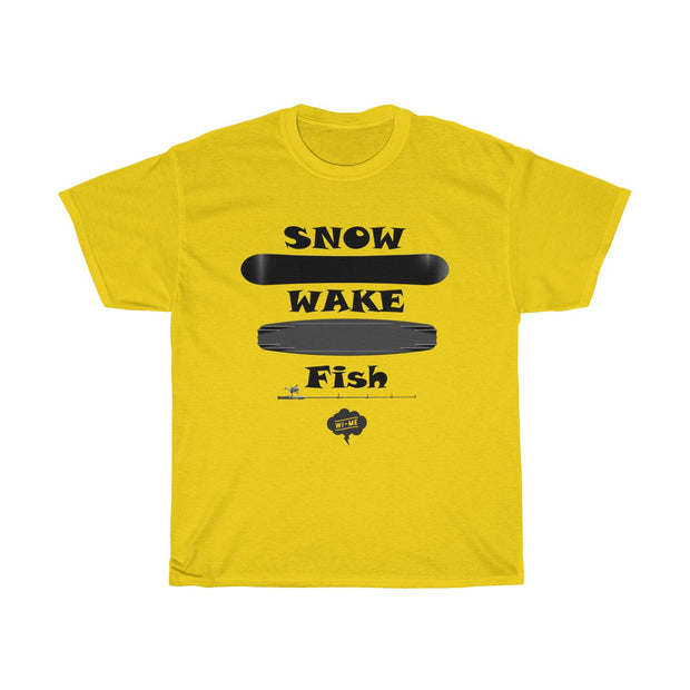 SNOW WAKE FISH Tee