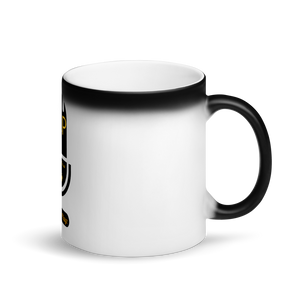 Black And Gold Edition Cast - Matte Black Magic Mug