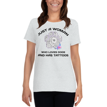 Dogs and Tattoos - Gildan Ladies Heavy Cotton T-Shirt w/ Tear Away Label