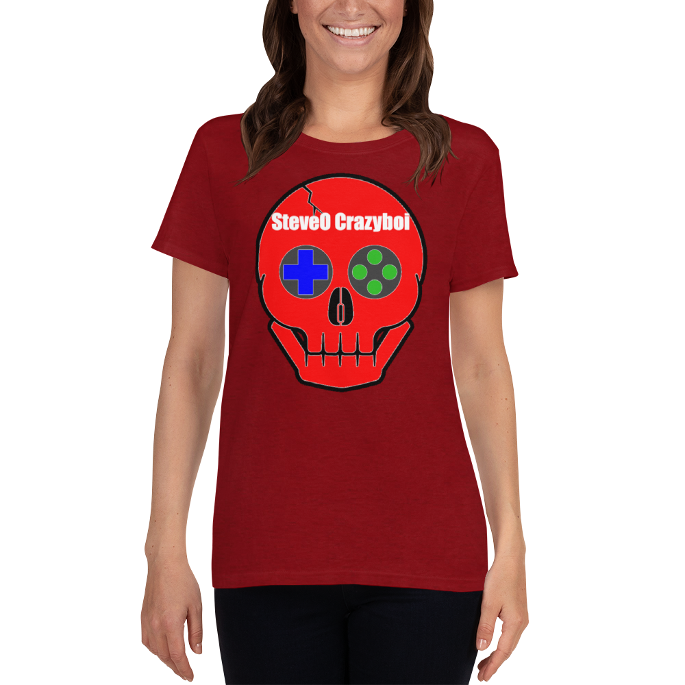 SteveO Crazyboi - Gildan Ladies Heavy Cotton T-Shirt w/ Tear Away Label