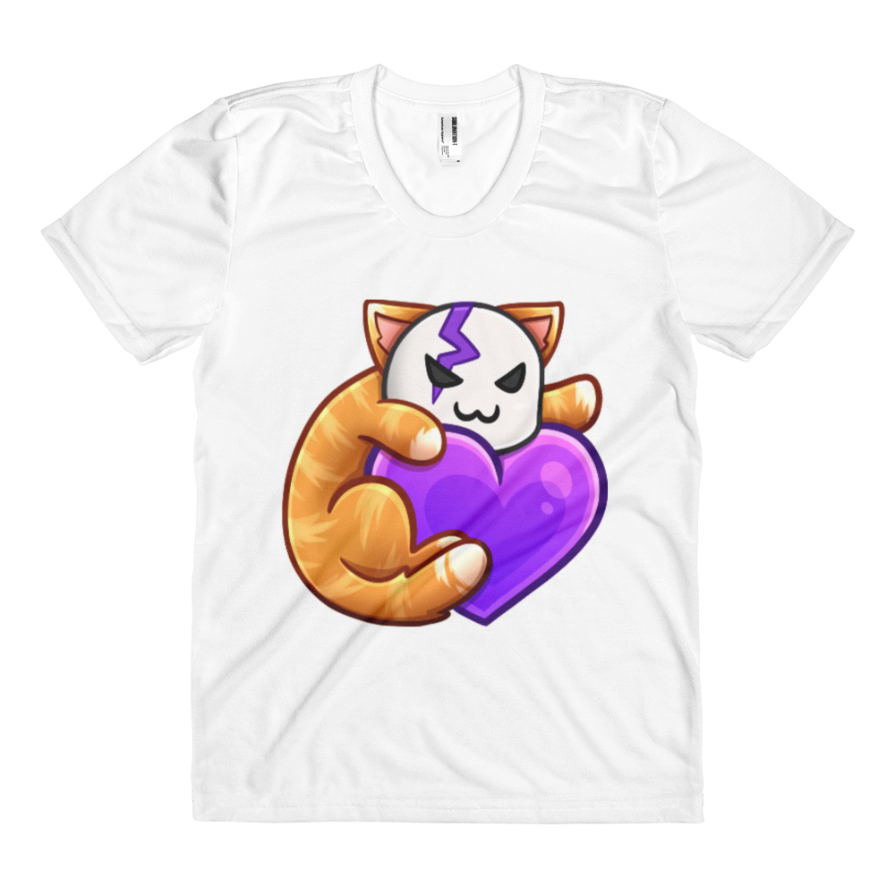 Cid Kitty Heart - American Apparel Women's Sublimation T-Shirt