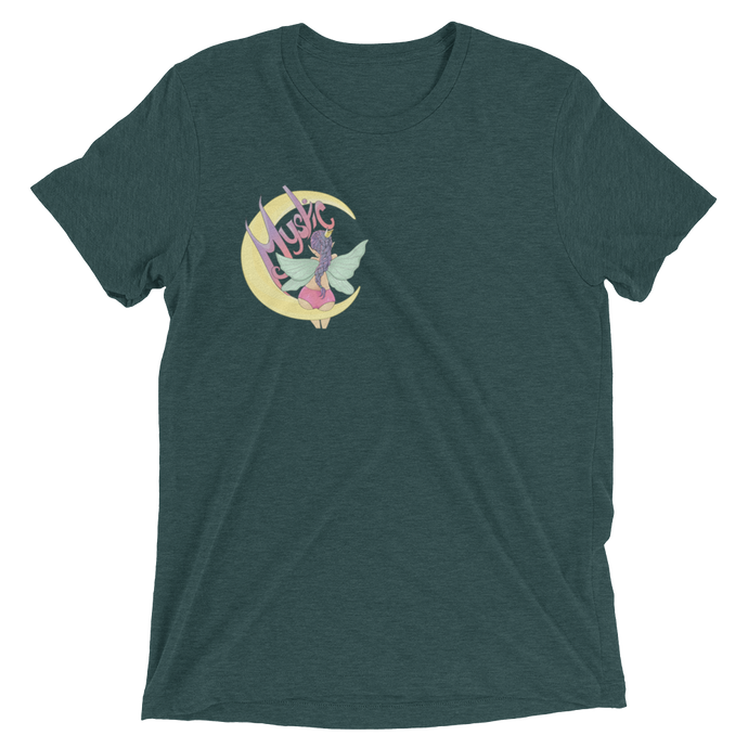 Mystic Moon - Bella + Canvas Unisex Triblend T-Shirt with Tear Away Label