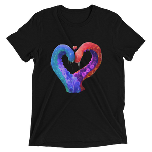 Love and Tentacles - Bella + Canvas Unisex Triblend T-Shirt with Tear Away Label