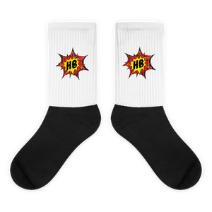 HB logo - Black Foot Socks