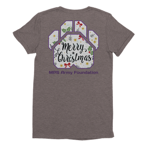Merry Christmas Paw - American Apparel Women's Tri-Blend T-Shirt