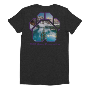 Winter Mountain - American Apparel Women's Tri-Blend T-Shirt
