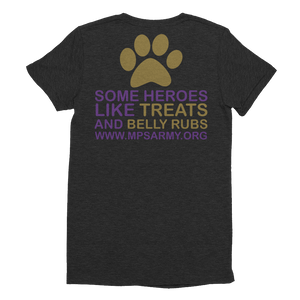 Treats & Belly Rubs - American Apparel Women's Tri-Blend T-Shirt