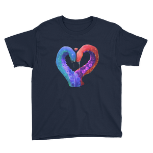Love and Tentacles - Anvil Youth Lightweight T-Shirt with Tear Away Label
