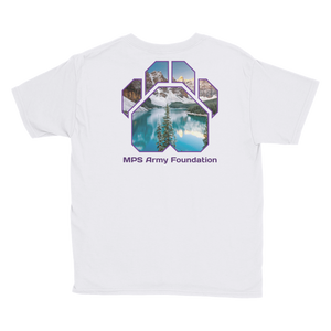 Winter Mountain - Anvil Youth Lightweight T-Shirt with Tear Away Label