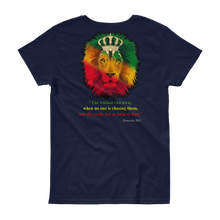 Godly Lion - Gildan Ladies Heavy Cotton T-Shirt w/ Tear Away Label