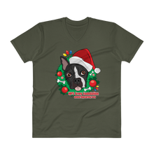 Holiday Pup - Anvil Lightweight V-Neck T-Shirt w/ Tear Away Label