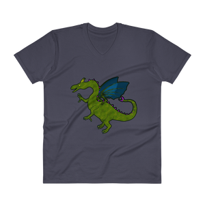 Shauni the dragon - Anvil Lightweight V-Neck T-Shirt w/ Tear Away Label