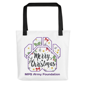 Merry Christmas Paw - All-Over Print Tote
