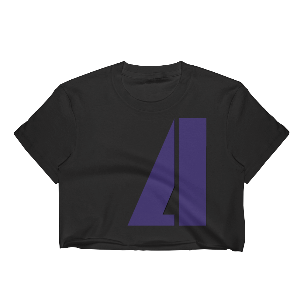 Community Logo - Los Angeles Apparel Short Sleeve Cropped T-Shirt w/ Tear Away Label