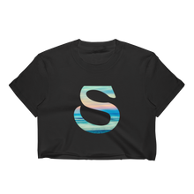 Simple Smith Logo - Los Angeles Apparel Short Sleeve Cropped T-Shirt w/ Tear Away Label