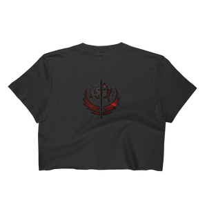 Canadian Ninja Knight - Los Angeles Apparel Short Sleeve Cropped T-Shirt w/ Tear Away Label