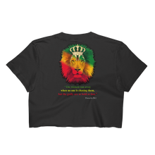 Godly Lion - Los Angeles Apparel Short Sleeve Cropped T-Shirt w/ Tear Away Label
