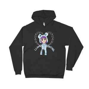 Llama Hunting - American Apparel Unisex California Fleece Pullover Hoodie