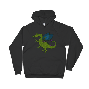 Shauni the dragon - American Apparel Unisex California Fleece Pullover Hoodie