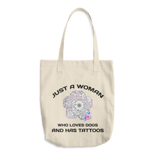 Dogs and Tattoos - Los Angeles Apparel Denim Cotton Tote
