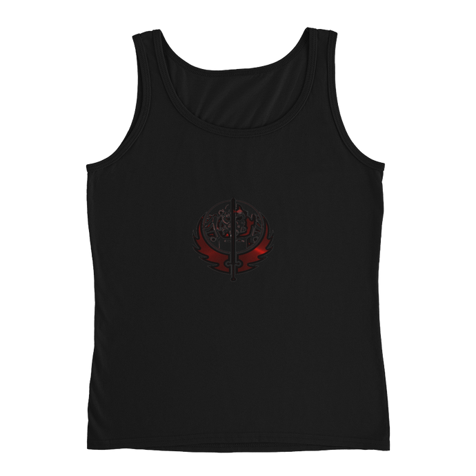 Canadian Ninja Knight - Anvil Ladies Missy Fit Tank Top with Tear Away Label