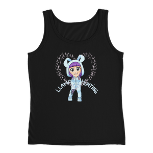 Llama Hunting - Anvil Ladies Missy Fit Tank Top with Tear Away Label
