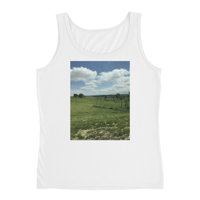 Rolling Fields - Anvil Ladies Missy Fit Tank Top with Tear Away Label