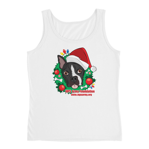 Holiday Pup - Anvil Ladies Missy Fit Tank Top with Tear Away Label