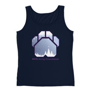 White Christmas - Anvil Ladies Missy Fit Tank Top with Tear Away Label