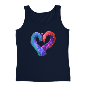 Love and Tentacles - Anvil Ladies Missy Fit Tank Top with Tear Away Label
