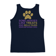 Treats & Belly Rubs - Anvil Ladies Missy Fit Tank Top with Tear Away Label