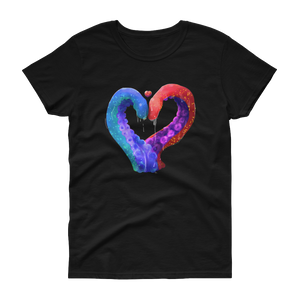 Love and Tentacles - Gildan Ladies Heavy Cotton T-Shirt with Tear Away Label