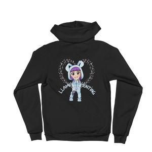 Llama Hunting - American Apparel Unisex Fleece Zip Hoodie