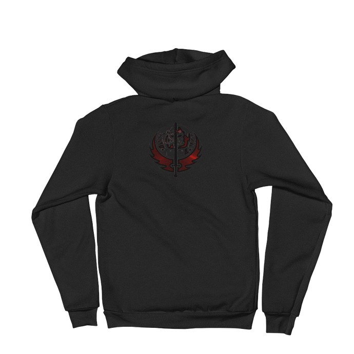 Canadian Ninja Knight - American Apparel Unisex Fleece Zip Hoodie