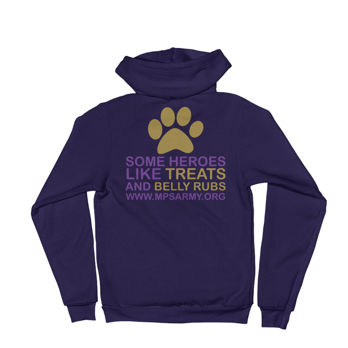 Treats & Belly Rubs - American Apparel Unisex Fleece Zip Hoodie