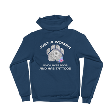 Dogs and Tattoos - American Apparel Unisex Fleece Zip Hoodie