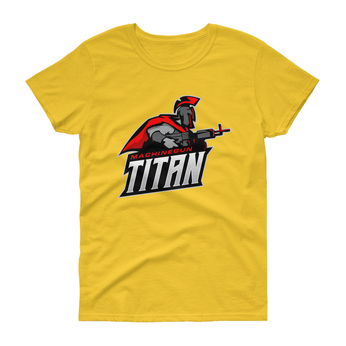 MachineGunTitan  - Gildan Ladies Heavy Cotton T-Shirt w/ Tear Away Label