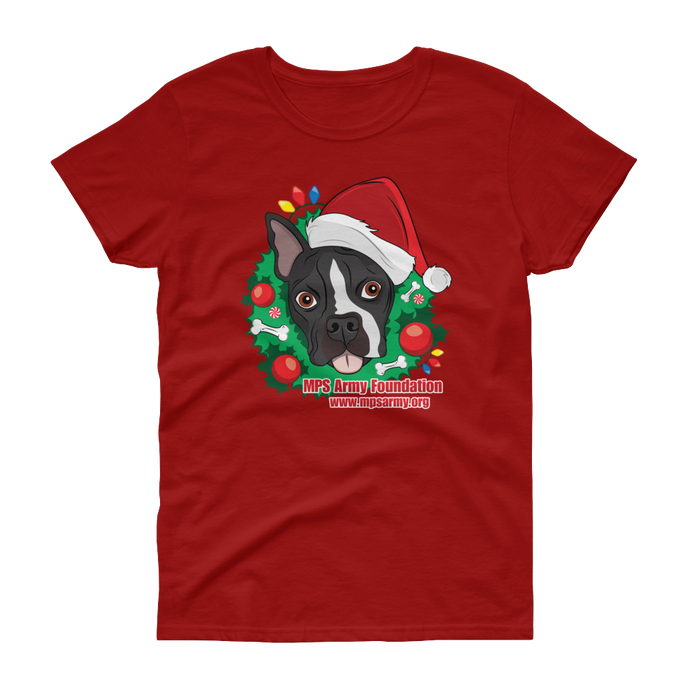 Holiday Pup - Gildan Ladies Heavy Cotton T-Shirt w/ Tear Away Label
