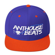 White and blue Anthouse Beats logo - Wool Blend Snapback