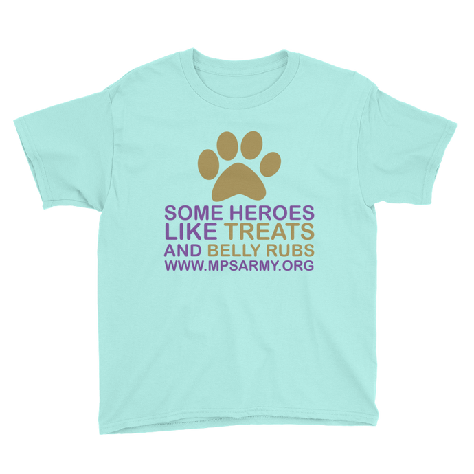 Treats & Belly Rubs - Anvil Youth Lightweight T-Shirt with Tear Away Label