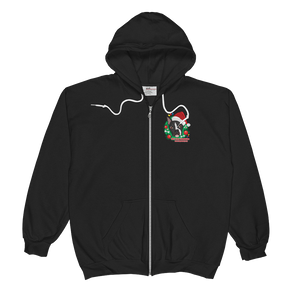 Holiday Pup - Anvil Full-Zip Hooded Sweatshirt