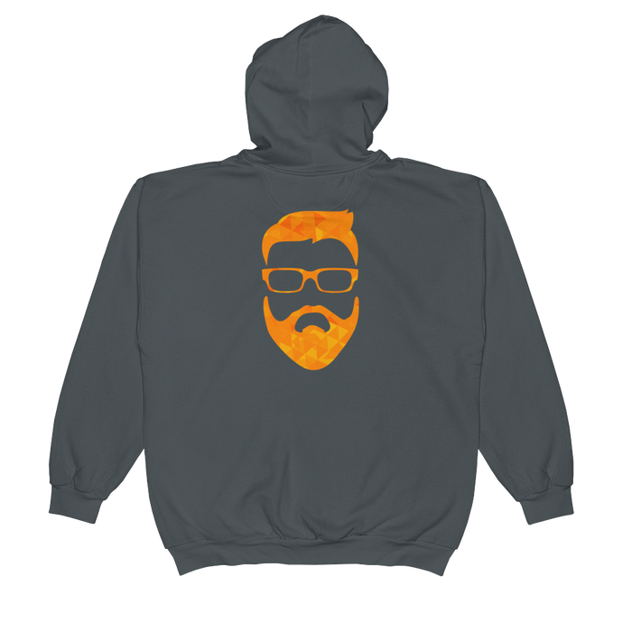 tiny geo face - Anvil Full-Zip Hooded Sweatshirt